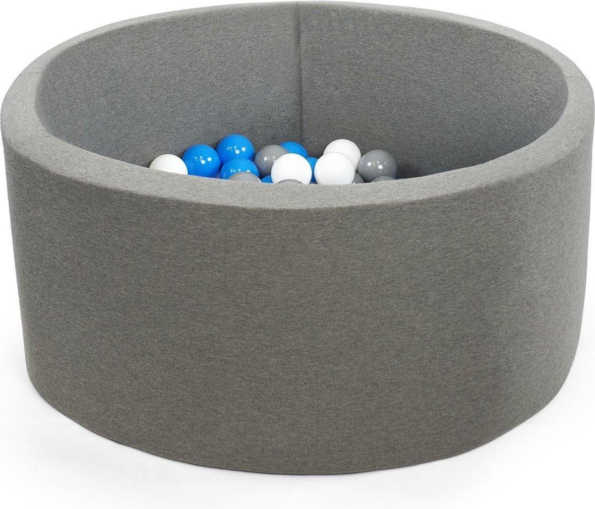 Ballenbak XL rond 90x40 grijs Misioo, excl. ballen