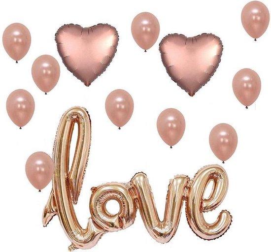 Ballonnen decoratieset LOVE – sweet 16 – Latex ballonnen – folie ballonnen – feest versiering – verjaardag versiering – rose balonnen – feestpakket – moederdag – valentijn versiering – partij balonnen
