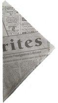 Puntzak Krant | Papieren Frietzak | 50 stuks | Patatzak | Patatzakje |Frietzakken | Puntzakjes | Puntzakken | Frietzakjes | Frietzakje | Snoepzak