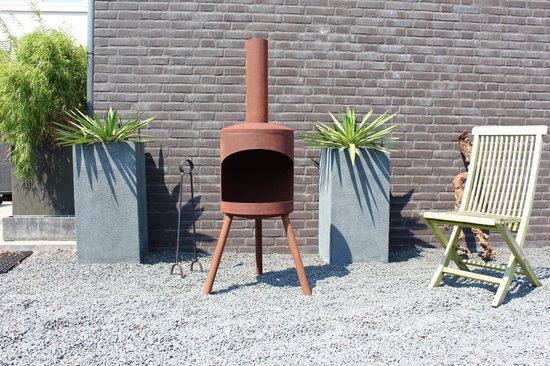 2L Home and Garden Tuinhaard Potkachel Medium - Industrieel roest look - Roestbruin