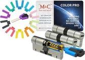 M&C Color PRO set van 3 cilinders 32/32 en 5 sleutels SKG3