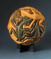 Beeldje - Sphere - Escher - Gecko - Lizards - Moving - Mozaiek