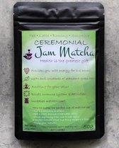 Biologische Matcha Poeder 50 Gram - CEREMONIAL GRADE - JamMatcha Groene Thee