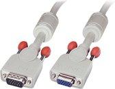 Lindy VGA Kabel M/F cool grijs 0.25m HD 15 M/F DDC-geschikt