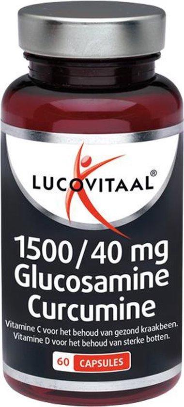 Lucovitaal 1500/40 mg  Glucosamine Curcumine Voedingssupplementen - 60 capsules