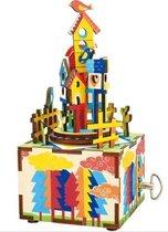 Robotime Muziekdoos 3D Houten Puzzel, Castle in the Sky