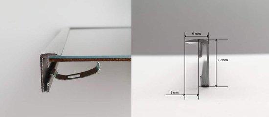 Homedecoration Almelo – Fotolijst – Fotomaat – 37 x 89 cm – Zilver glans