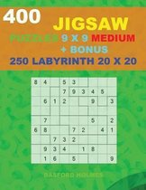 400 JIGSAW puzzles 9 x 9 MEDIUM + BONUS 250 LABYRINTH 20 x 20