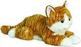 Pluche rode kater/kat/poes knuffel 30 cm - Poezen/katten huisdieren knuffels - Speelgoed voor peuters/kinderen