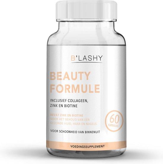 B'LASHY® beauty supplement - Haar vitamine - Voor gezond haar, huid, nagels en een goede weerstand - Vitamine C - 60 Capsules