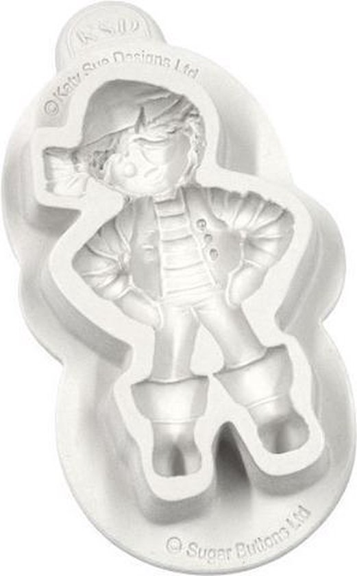 Katy Sue Mould Sugar Buttons Character - Pirate
