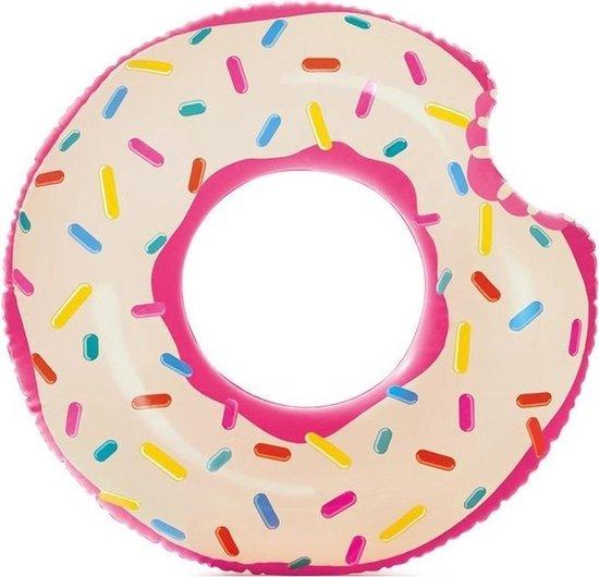 Opblaasbare roze donut zwemband 107 cm - XL - Zwembenodigdheden - Zwemringen - Eet/snoep thema - Donut zwembanden groot voor kinderen en volwassenen