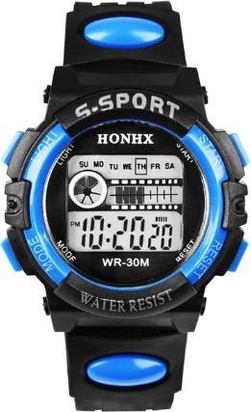 HONIX S Sport - Horloge - Kunststof - Zwart/Blauw - Ø 44 mm