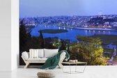Fotobehang vinyl - Schitterend blauw water voor Istanbul breedte 450 cm x hoogte 300 cm - Foto print op behang (in 7 formaten beschikbaar)
