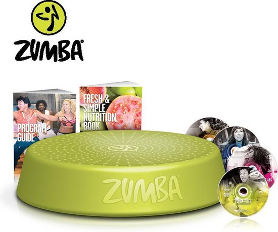 Zumba Step Riser  Met 4 training DVD's Groen