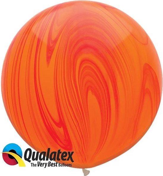Marmer Print Oranje Rood 75 cm (2 stuks)
