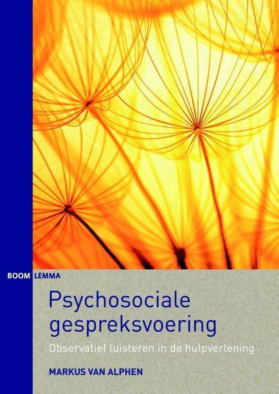 Psychosociale gespreksvoering - Markus van Alphen | Fthsonline.com