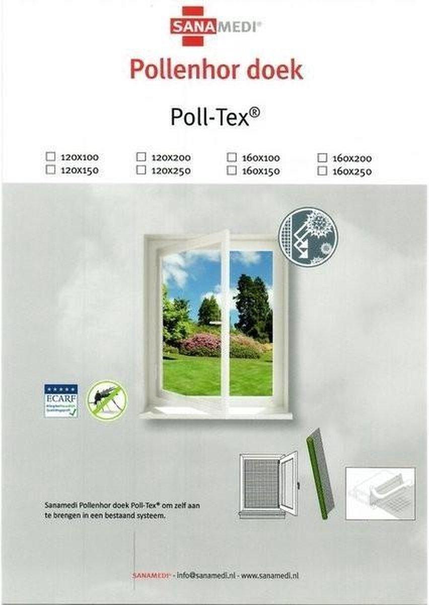 Poll-Tex Pollenhor Zwart - 120x200 cm - Los Doek - Poll-Tex