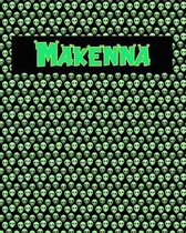 120 Page Handwriting Practice Book with Green Alien Cover Makenna