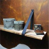 Plankdragers vintage zwart leer - Vintage - Handmade in Holland