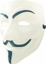 Wit V for Vendetta Masker / Wit Anonymous Masker / Wit Guy Fawkes Masker