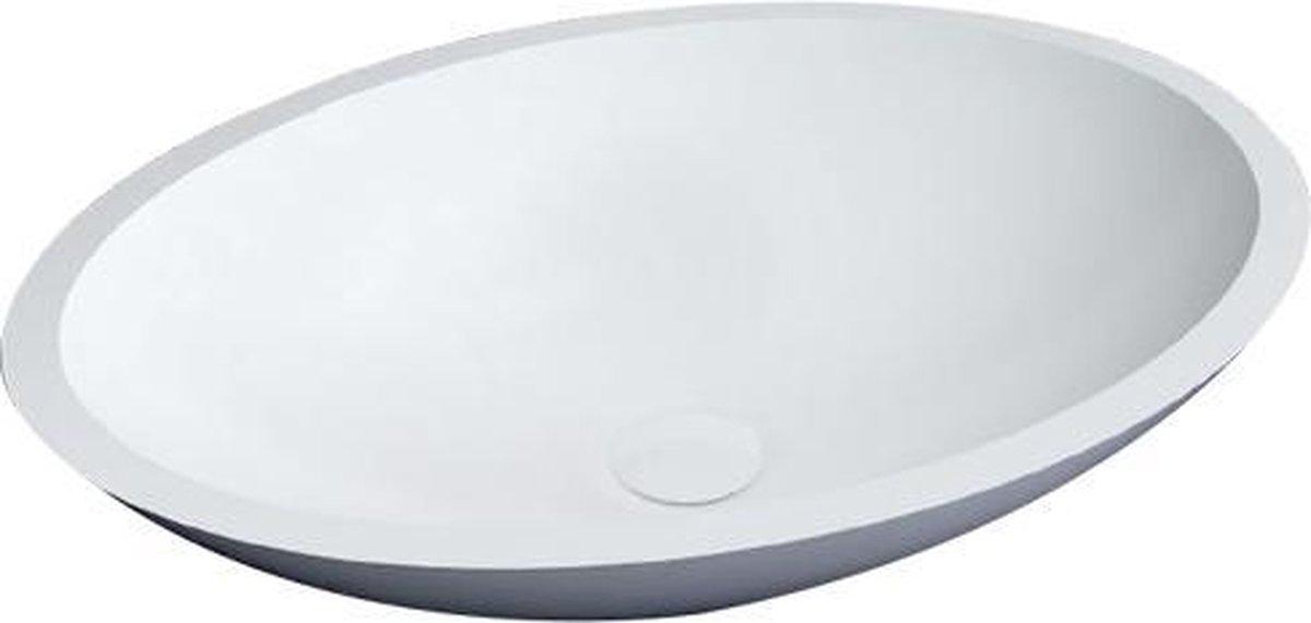 Best Design New Stone Epona opbouw waskom 52x38cm glans wit