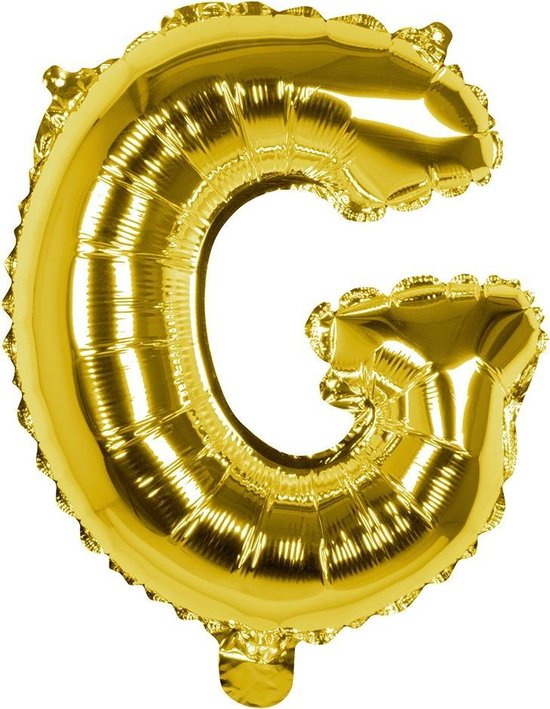 Boland Folieballon Letter G 36 Cm Goud