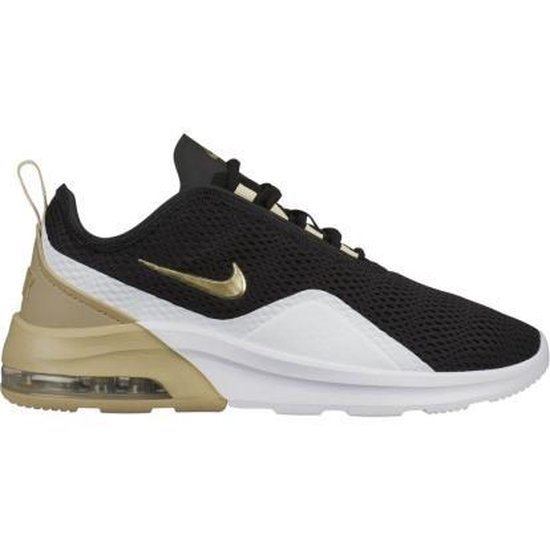 bol.com | Nike Air Max Motion 2 sneakers dames zwart/wit/goud