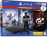 Afbeelding van Sony PlayStation 4 Slim 500 GB + Horizon: Zero Dawn + Uncharted 4 + GT Sport