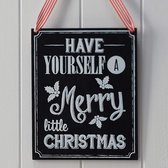 Have yourself a Merry little Christmas - houten krijtbord