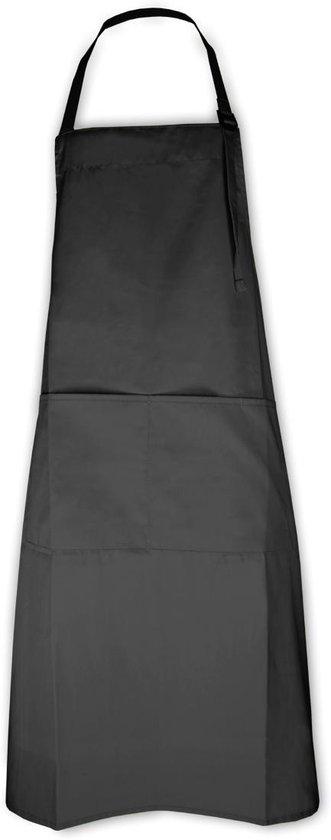 Keukenpakket Antraciet: 1 apron schort, 2 ovenwanten, 2 pannenlappen en 1 theedoek