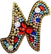 Diamond Painting Letter Sleutelhanger - 7x6cm - Letter N