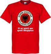 Albanië Slogan Logo T-Shirt - M