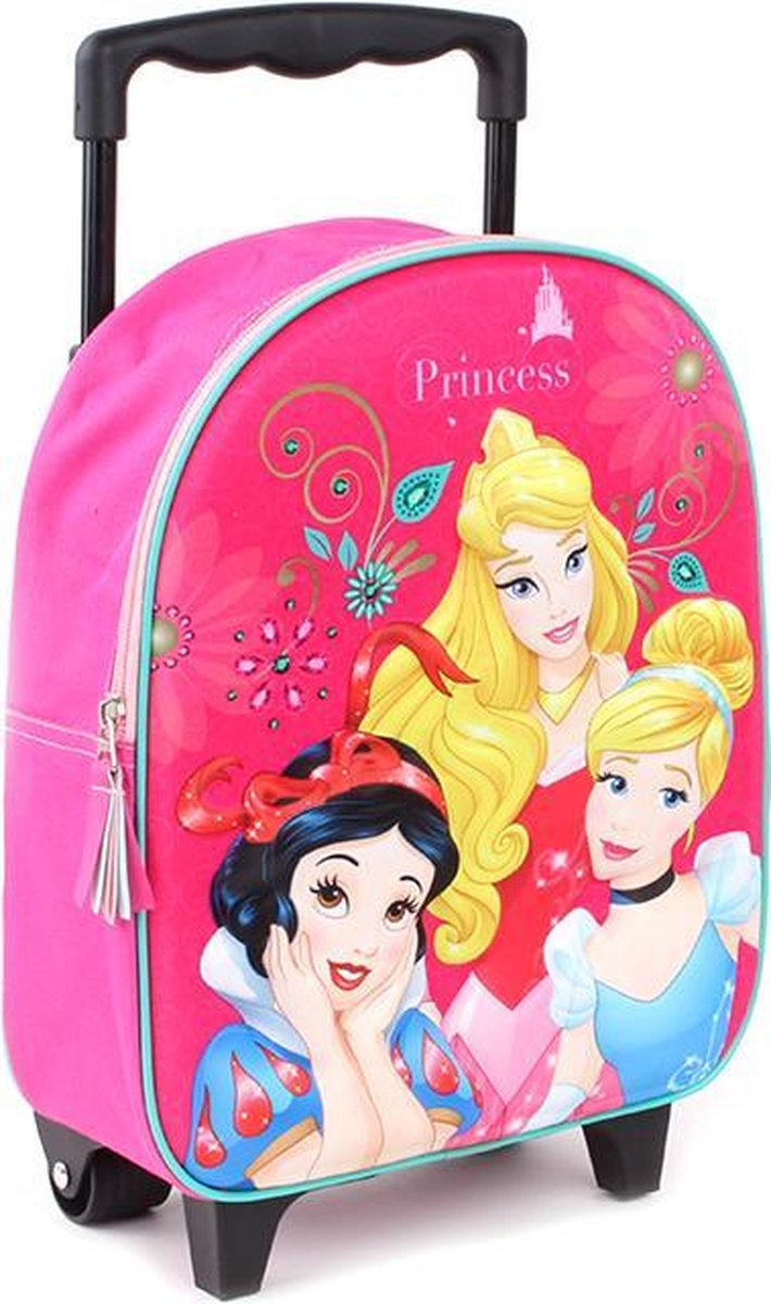 Princesses Little Fairytale (3D) trolley rugzak - Pink -