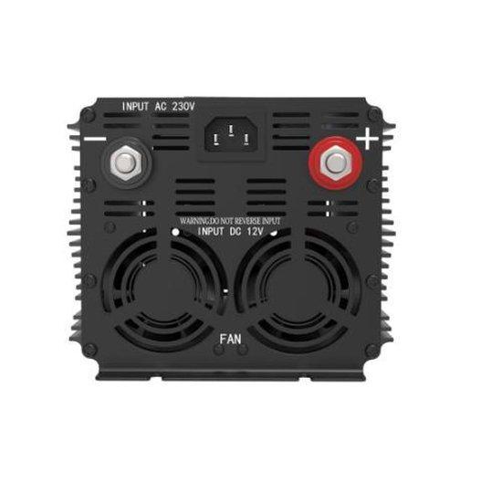 Edecoa 12V-230V UPS/Accu lader/Omschakelsysteem Zuivere Sinus Omvormer - 1500W/3000W + controller
