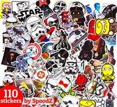 Star Wars Stickers 100 Stuks + 10 Gratis Extra | Sticker Mix | ST10