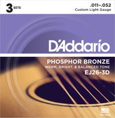 D'Addario EJ26-3D snaar voor muziekinstrumenten Gitaar Staal Akoestisch 18 stuk(s)
