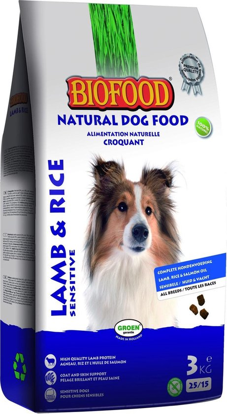 Biofood Hondenvoer - Lam/Rijst - 3kg