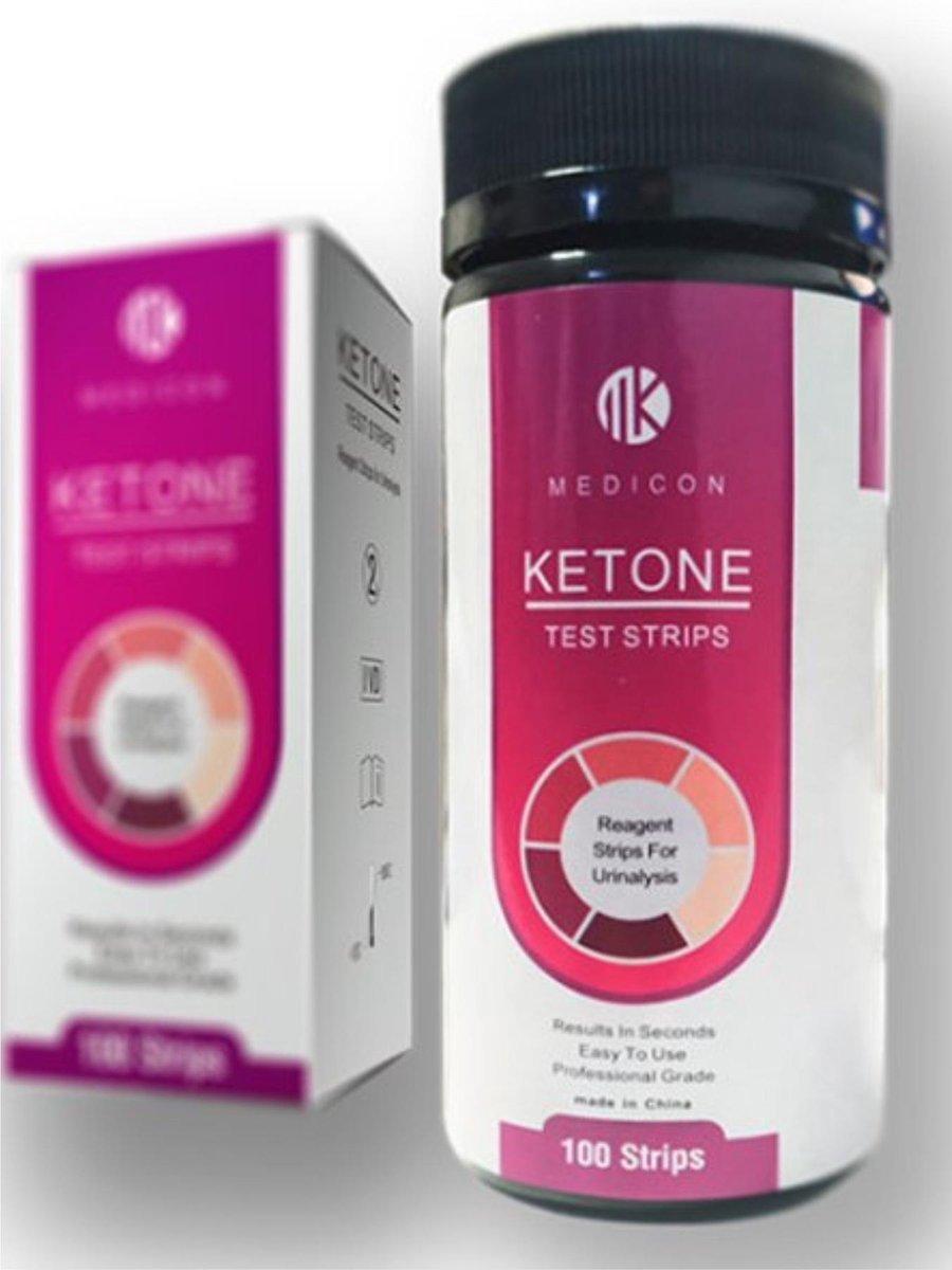 Ketose Teststrips Voor Keto & Atkins Dieet - Keto & Urine Strips voor Afvallen - 100 Stuks - Best Ge