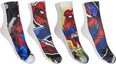 Spiderman sokken 4 paar ( maat 31-34 )