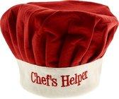 Koksmuts voor kinderen met tekst - Chef's Helper