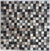 Mozaiek tegel Glas, aluminium 706M