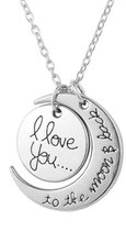 I love you bedel ketting | to the moon and back | liefde | valentijn