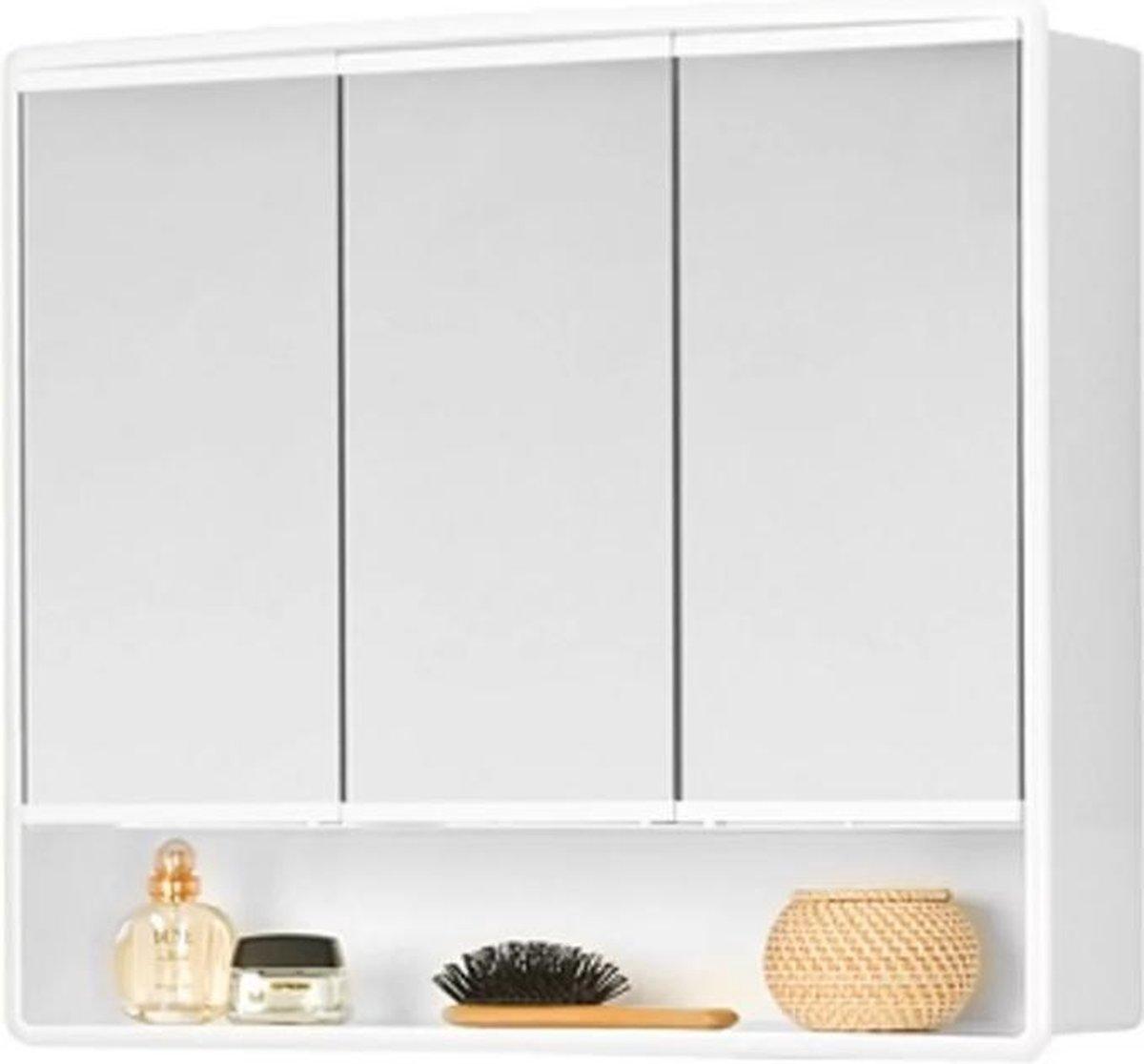 Plieger Lymo spiegelkast met 3 deuren 58x49.5x14.5cm wit