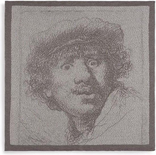Knit Factory Keukendoek Rembrandt - Ecru/Taupe