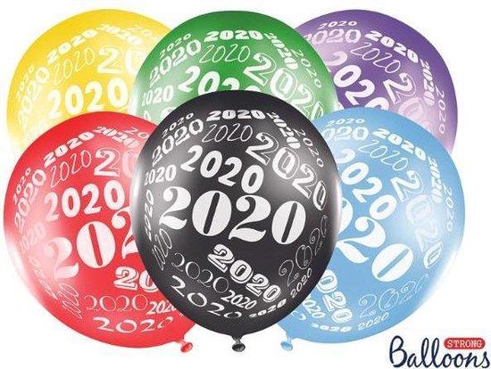 Ballonnen 2020 assorti 50 stuks