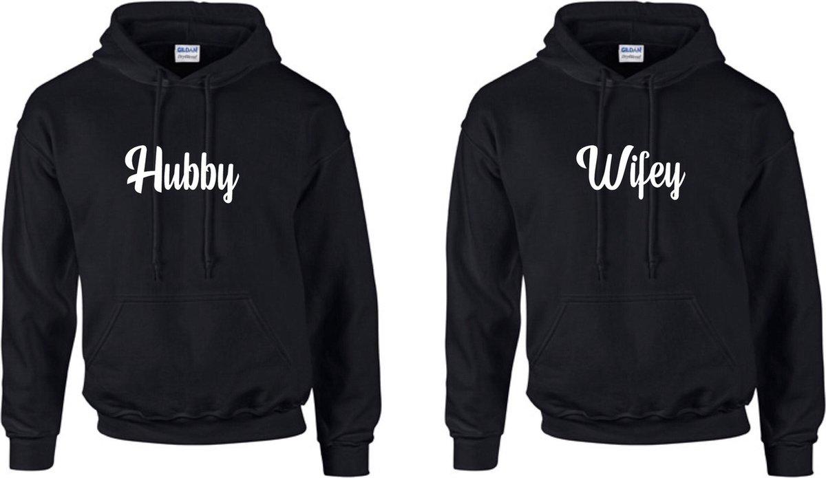 Hubby Wifey Sweater kopen   Valentijnsdag & Koppel truien