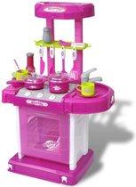speelkeuken (INCL keukenspullen) Roze voor Kinderen met Licht en Geluid - Speelgoedkeuken - Kinder keuken