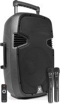 """Vonyx SPJ-PA912 Mobiele Geluidsset 500w / 12"""" BT/VHF/USB/MP3"""