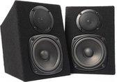 Monitor speakers - Fenton DMS40 DJ speakers 200W - Set van 2 stuks - Zwart